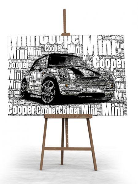 Mini Cooper 100 x 80cm